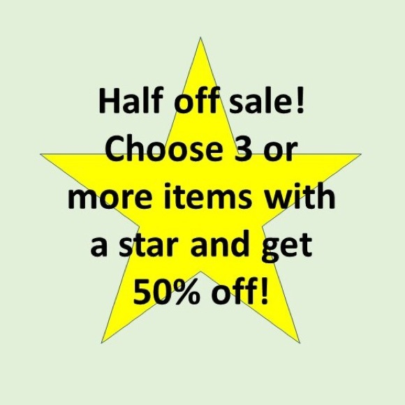 Other - Bundle 3 or more ⭐️ and get 50% off those items!